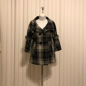 Rue 21 pea coat plaid double breasted